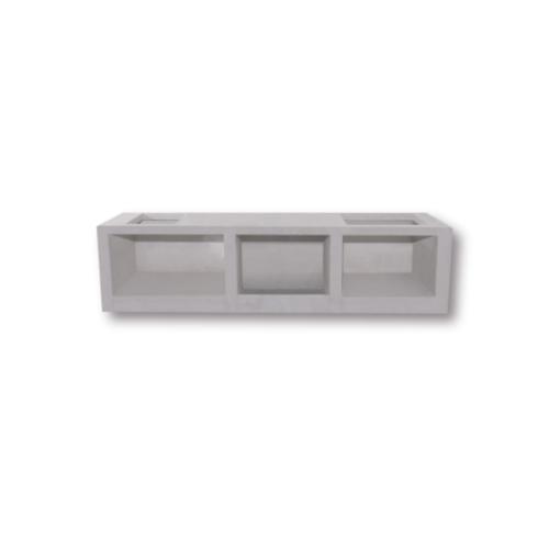 Dura one ผนังเสริมเหล็ก ดูร่าวันเคาน์เตอร์ ซิงค์ 56x120x7.5 cm. สีขาว
