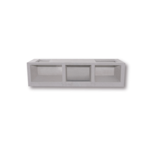 Dura one ผนังเสริมเหล็ก ดูร่าวันเคาน์เตอร์ ขา 56x75.5x7.5 cm. สีขาว