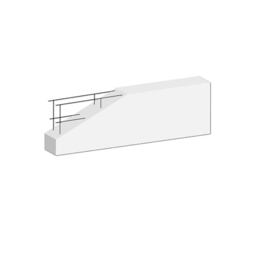 Dura one คานทับหลังดูร่า  7.5x20x210 ซม. สีขาว