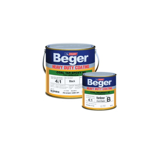 Beger โคลทาร์อีพ็อกซี่ 80  (Black)  Part A+B   1 G สีดำ