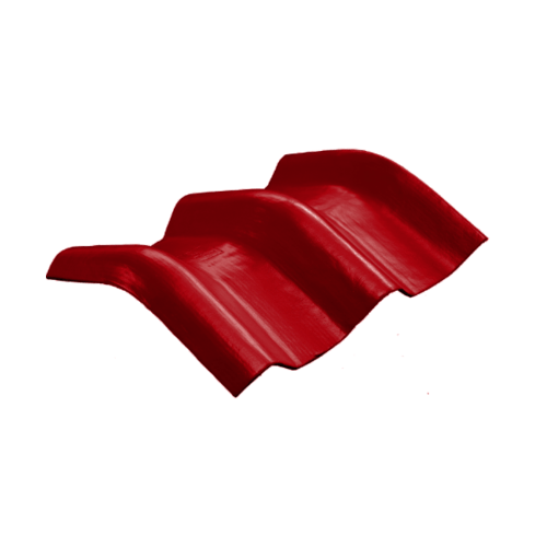 โอฬาร ครอบมุม 15 องศา สีแดงประกายทับทิม  (ลูกโลก)  ลอนคู่