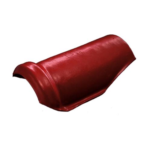 โอฬาร ครอบสันโค้งตะเข้ สีแดงประกายทับทิม (ลูกโลก) ลอนคู่