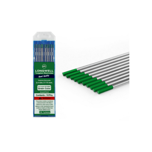 LONG WELL ลวดเชื่อมทังสเตน  2.4 mm.  Tungsten Green   สีเขียว
