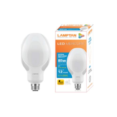 LAMPTAN หลอดไฟแอลอีดี เมอร์คิวรี  85 วัตต์ แสงเดย์ไลท์ สีขาว