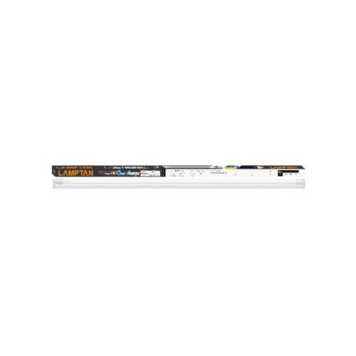 LAMPTAN ชุดเช็ทรางพร้อมหลอด T8 LED 18W แสงเดย์ไลท์ รุ่นนาโน Setronic T8 สีขาว
