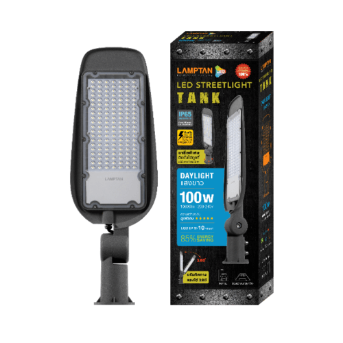 LAMPTAN โคมไฟแอลอีดี  Street Light Eco   บาง 100w แสงเดย์ไลท์ สีเทา