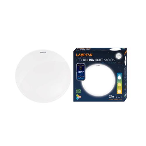 LAMPTAN โคมไฟเพดาน 3 แสง LED 24W รุ่น MOON Ceiling Lamp Moon  สีขาว