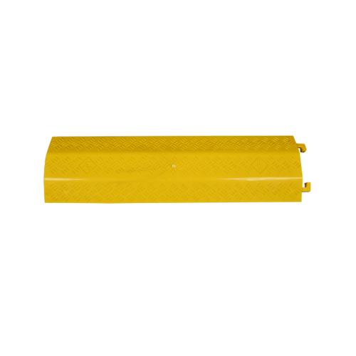 Protx ยางป้องกันสายไฟ 1 ช่องใหญ่ 100x27.5x4Cm. PQS-OBC119 สีเหลือง