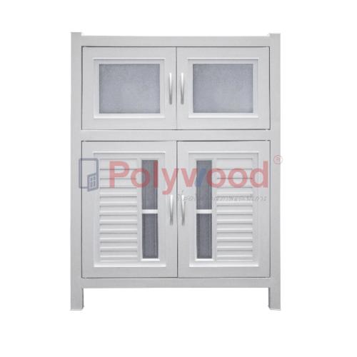 Polywood ตู้กับข้าว  1.5 ชั้น (1 ตู้สั้น - 1 ตู้คู่) M-Series Model 3-A
