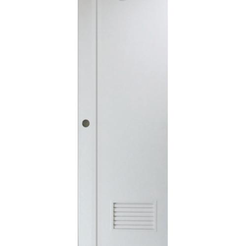 PEOPLE ประตู UPVC เซาะร่องมีเกล็ด 70x200 ซม.  (ไม่เจาะ) MG2 สีขาว