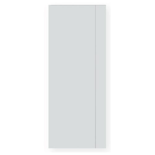 PEOPLE ประตู UPVC เซาะร่อง 80x200 (ไม่เจาะ) ภายนอก  UG02 สีขาว