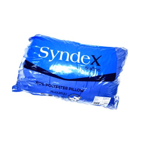 SYNDEX หมอนหนุนใยสังเคราะห์  ผ้าไมโคร Basic สีน้ำเงิน