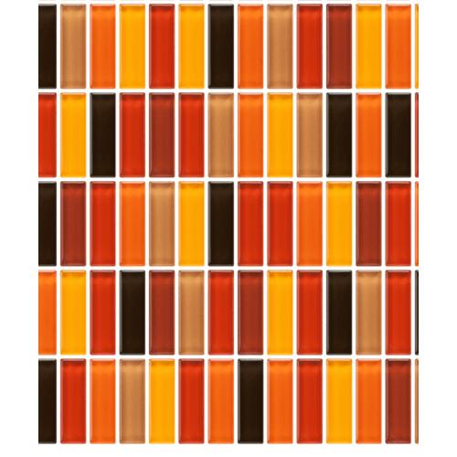 โมเสคแก้ว สไปซี่ A. Mosaic Color Party Series (คัลเลอร์ ปาร์ตี้ ซีรี่ส์) แดง-น้ำตาล