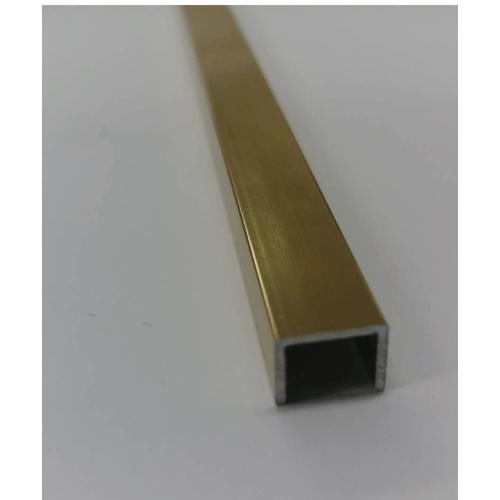 Alusite  กรุยเชิงอลูมิเนียม  ร่องตัวยู 10 มม. ยาว 2 เมตร สีทองเงา   LEA108/2000/34AL-GB