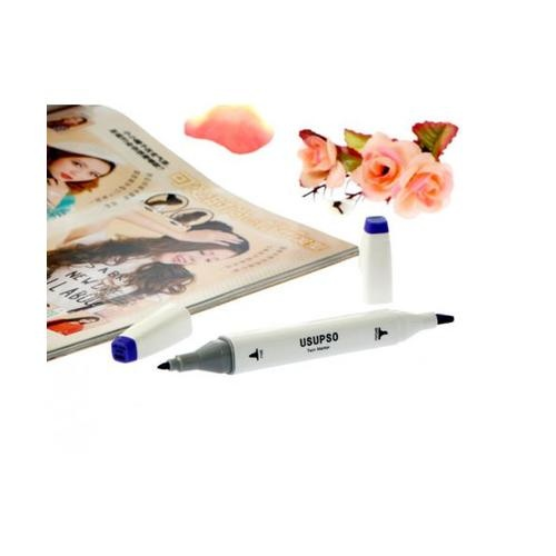 USUPSO  ปากกาไฮไลท์ PB75-10 สีน้ำเงิน