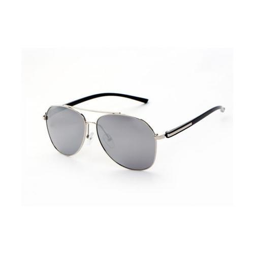 USUPSO แว่นตากันแดด Polarized TR-Ultra สีปรอท - สีดำ