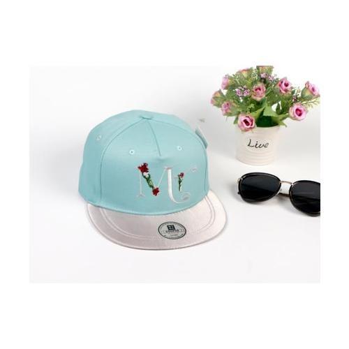 USUPSO USUPSO หมวกแก๊ป Rose letter สีฟ้า - สีฟ้า