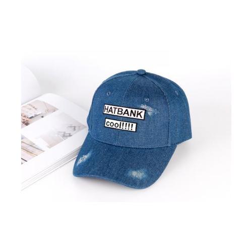USUPSO  หมวกแก๊ป  Denim Embroidered  สีน้ำเงิน