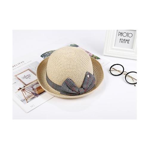 USUPSO หมวก Bow top สีแอปริค็อต - สีเบจ