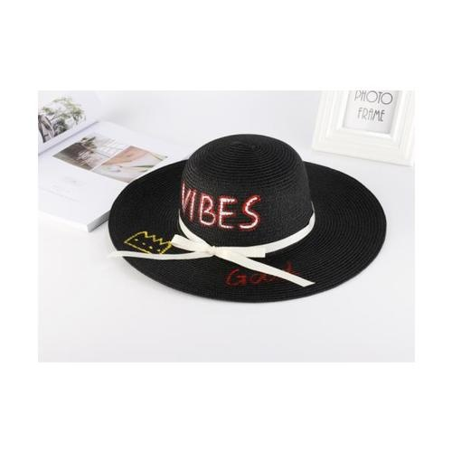 USUPSO หมวกปีก Summer Painted สีดำ - สีดำ