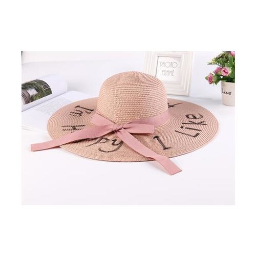 USUPSO USUPSO หมวกปีก Summer letter  - สีชมพู