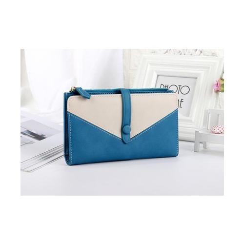 USUPSO กระเป๋าเงินผู้หญิง   สีน้ำเงิน