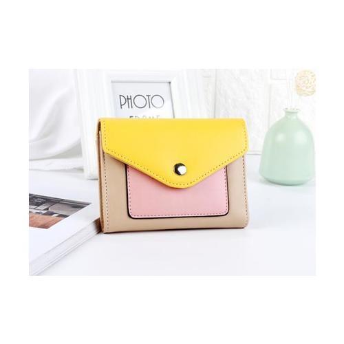 USUPSO  กระเป๋าเงินผู้หญิง สีเหลือง