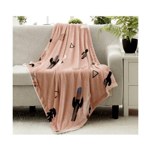 USUPSO  ผ้าห่ม 90 * 140 - สีชมพู