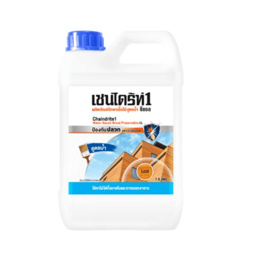 TOA CHAINDRITE เชนไดร้ท์ 1 รักษาเนื้อไม้ สูตรน้ำ 1.5L  #000DB สีน้ำตาล