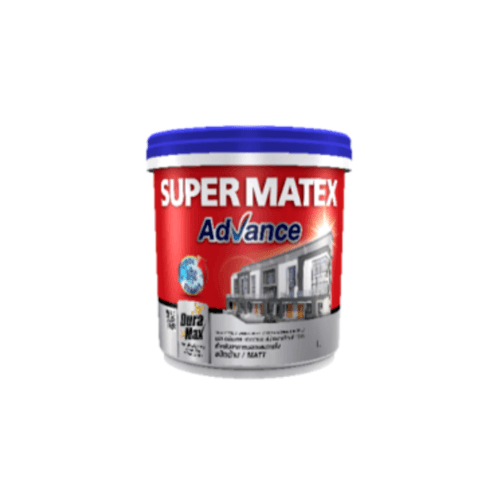 TOA Supermatex ซุปเปอร์เมเทค แอดวานซ์ สีน้ำด้าน ภายนอก เบส 1 กล #000B SUPERMATEX ADVANCE สีขาว
