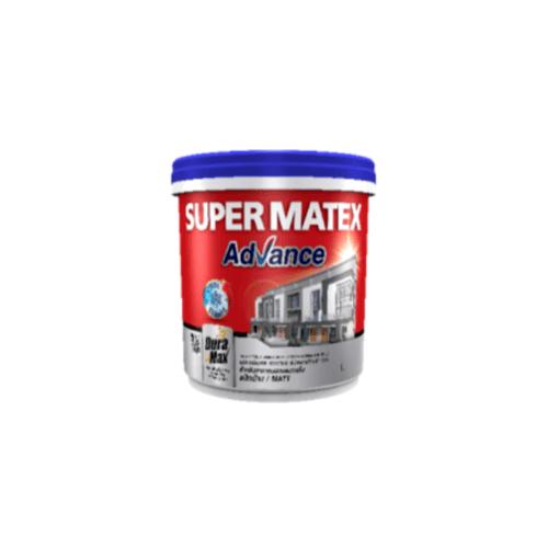 TOA Supermatex ซุปเปอร์เมเทค แอดวานซ์ สีน้ำด้าน ภายนอก เบส 9 ลิตร #000B SUPERMATEX ADVANCE สีขาว
