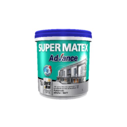 TOA Supermatex ซุปเปอร์เมเทค แอดวานซ์ สีน้ำด้าน ภายใน เบส 1 กล #000D SUPERMATEX ADVANCE สีขาว