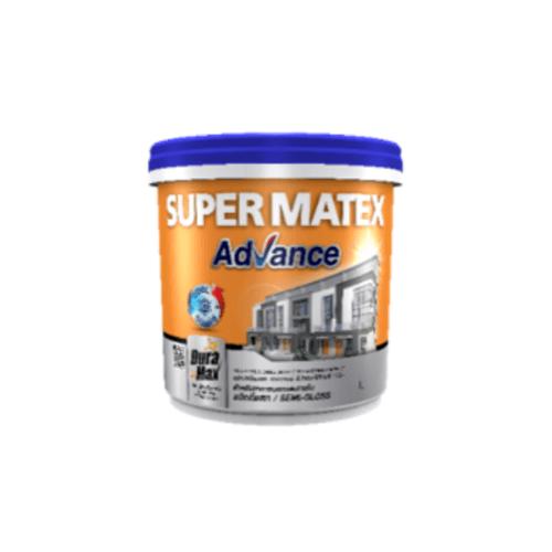 TOA Supermatex ซุปเปอร์เมเทค แอดวานซ์ สีน้ำกึ่งเงา ภายนอก เบส 9 ลิตร  #000D สีขาว