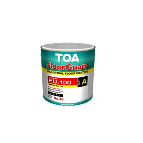 TOA HDC ฟลอร์การ์ด พียู 100 สีทับหน้า ส่วนเอ  1 กล #5012