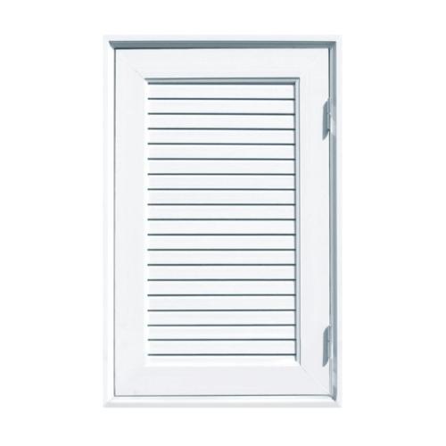 ECODOOR  ชุดประตูช่องชาร์ปยูพีวีซี เกล็ดเต็มบาน ขนาด  70x120ซม.  CH1 สีขาว
