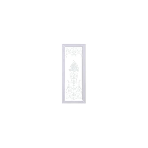 ECODOOR ประตูUPVC ขนาด  80x200 CM.เฉพาะบาน ไม่เจาะ  Flower สีขาว