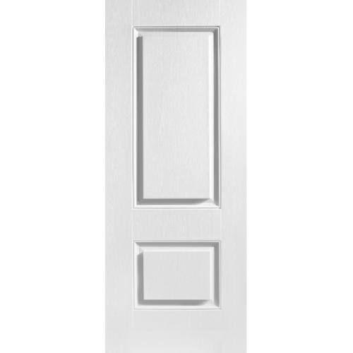 Eco door ประตู UPVC 2  ขนาด 80x200cm. ไม่เจาะ  สีขาว