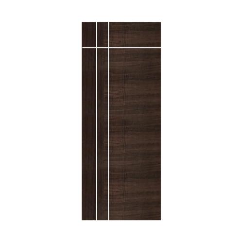ECODOOR  ประตูยูพีวีซี บานทึบเซาะร่องขนาด 90x200ซม. สีโอ๊ค (เจาะ)  U3AO