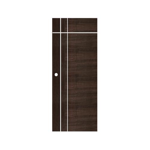 ECODOOR ประตูยูพีวีซี บานทึบเซาะร่อง90x200ซม. สีโอ๊ค (เจาะ)  U3AO