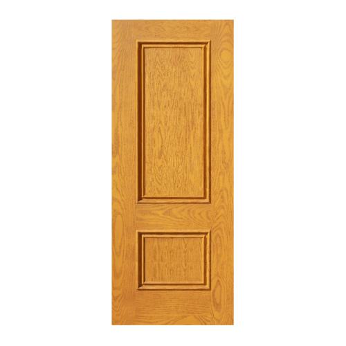ECODOOR ประตูไฟเบอร์กลาส 2ฟัก ขนาด 80cm.x200cm. สีสัก ไม่เจาะ  2PT