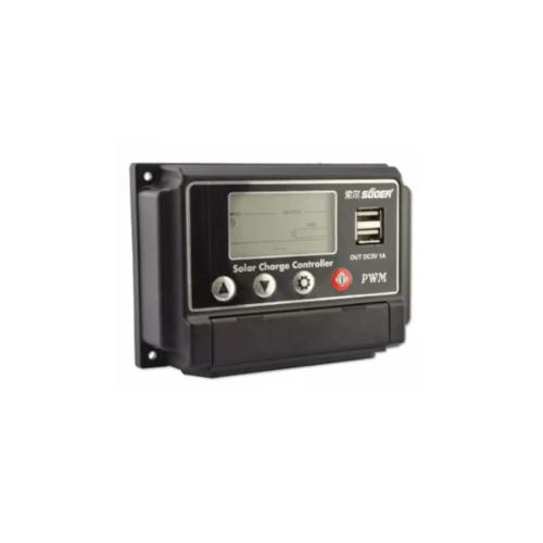 SUOER อุปกรณ์ควบคุมการชาร์จแผงโซล่าร์เซลล์ PWM ST-W1220 20A 12V/24V