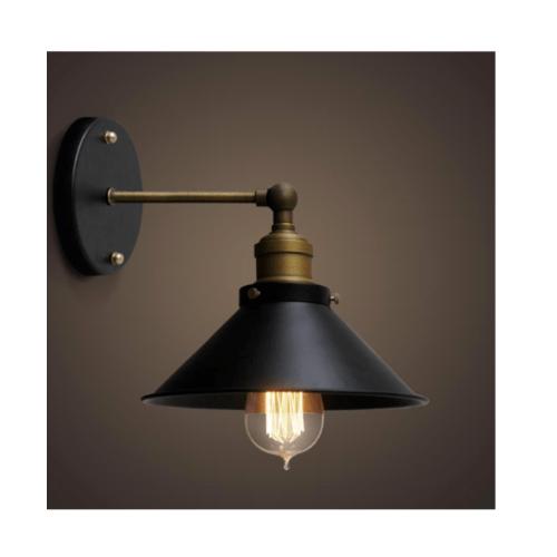 EILON โคมไฟผนังลอฟท์ 40 W ขั้ว E27  MB42594-1S  สีดำ