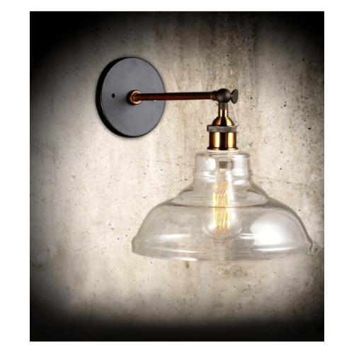 EILON โคมไฟผนังลอฟท์ 40 W ขั้ว E27   MB42811F-1C สีดำ