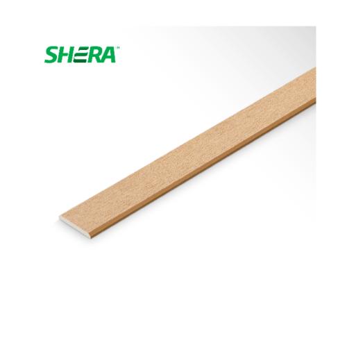SHERA ไม้ระแนงเฌอร่า ลายเสี้ยน ขอบวี  ขนาด 0.8x7.5x300ซม.สีบีช  -