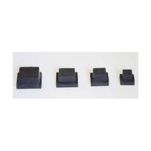 S.S.P. ยางขาโต๊ะเหลี่ยมตัน สวมใน (4ชิ้น/แแพ็ค) 1 นิ้ว สีดำ