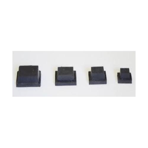 S.S.P. ยางขาโต๊ะเหลี่ยมไม้ขีดตัน สวมใน (4ชิ้น/แพ็ค) 1 นิ้ว x 2 นิ้ว สีดำ