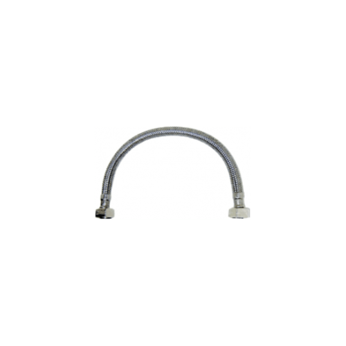 KARAT FAUCET สายน้ำดีสแตนเลสแบบถัก ยาว 14 นิ้ว  KA-01-500-14-WH เงิน