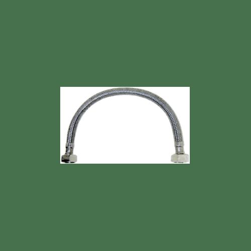 KARAT FAUCET สายน้ำดีสเตนเลสแบบถัก ยาว 18 นิ้ว KA-01-500-18-WH เงิน