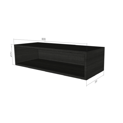 LAVAREDO ตู้แขวนช่องเสริม สั่งพิเศษ  H200 x W800 xD300mm.  สี LW106-Foresta Teak