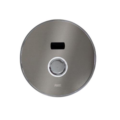 R&T ฟลัชวาล์วอัตโนมัติโถสุขภัณฑ์ชนิดฝังผนังพร้อมปุ่มกด LED  D6003-S